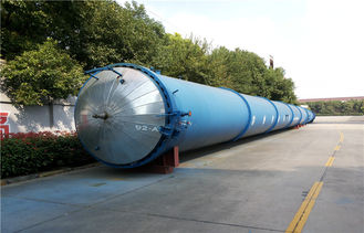 China Brick / Rubber / Food / Glass Industrial Autoclave For Wood Plant 3.2m × 31m supplier