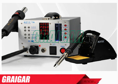 China 220V Industrial Welding Equipment Hot Air Gun / Soldering Iron SMD Solder Station AOYUE738 distributor